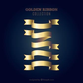 Set von goldenen Bändern