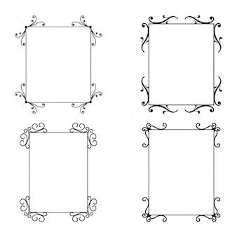 Set von kalligraphischen Rahmen
