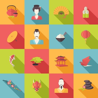 Set von orientalischen Symbole