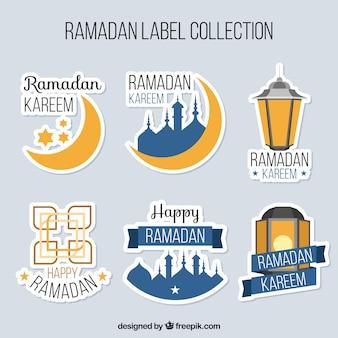 Set von ramadan Aufkleber