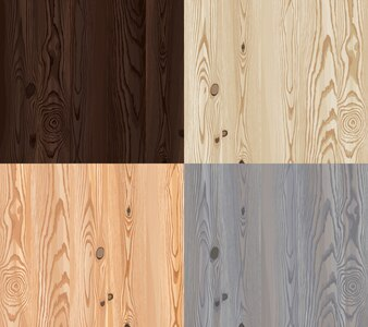 Set von Vektor Holz Textur mit natürlichen Muster