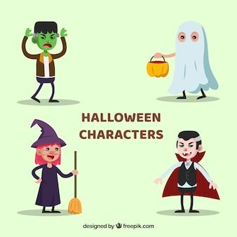 Set von vier Halloween-Kostümen