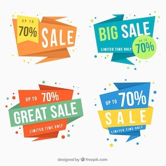 Set von vier Super-Verkauf Banner