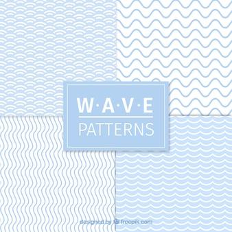 Set von vier Wellenmuster
