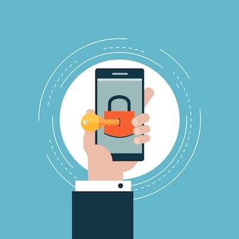 Sichere Benutzeroberfläche Login und Account Schutz
