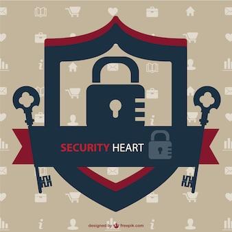 Sicherheitsschloss Vektor-Bild