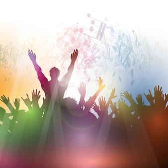 Silhouette einer Partei Menschenmenge auf einem abstrakten Hintergrund