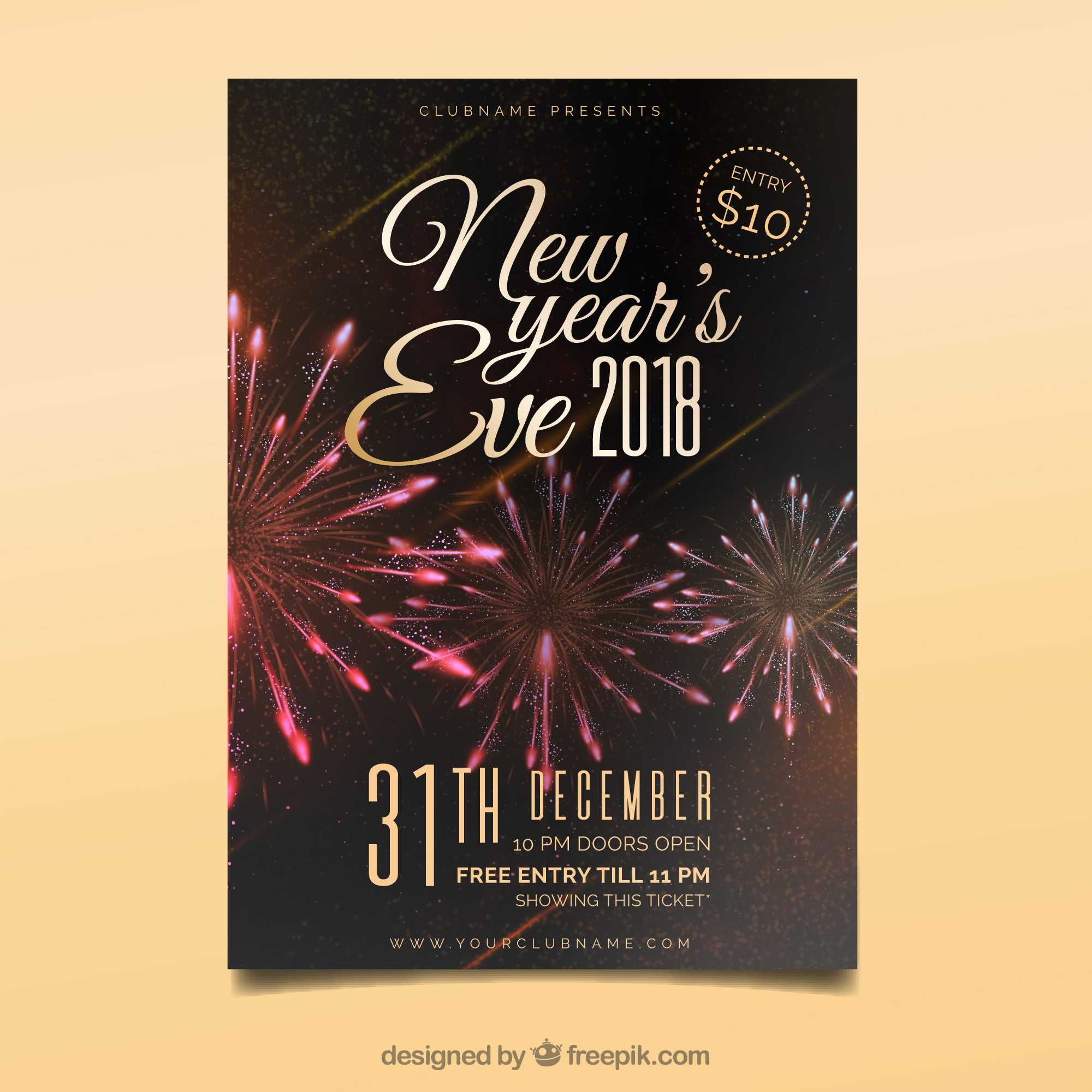 Silvester-Party-Flyer