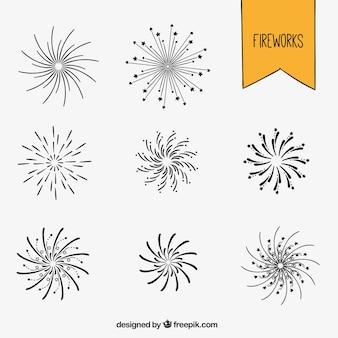 Sketchy Feuerwerk Sammlung