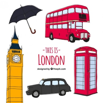 Sketchy London Kultur Elemente