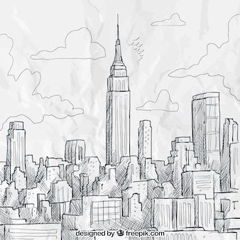 Sketchy Skyline von New York