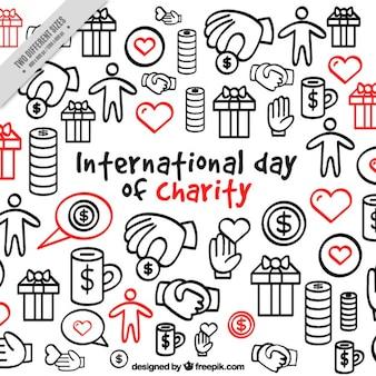 Skizzen Charity-Hintergrund