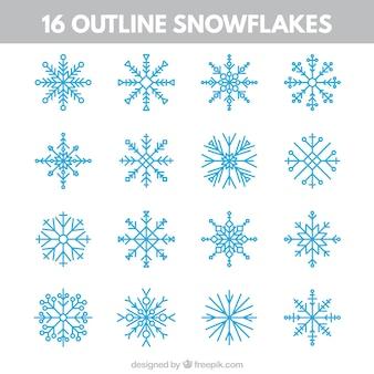 Skizziert Schneeflocken