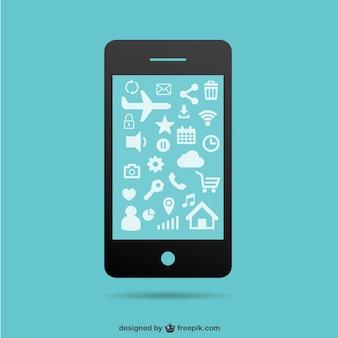 Smartphone Flach Vorlage kostenlos