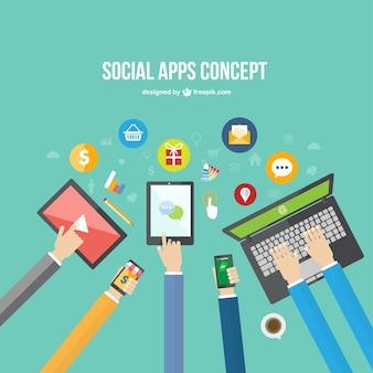Social Apps Konzept
