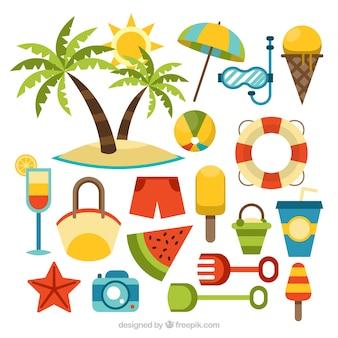 Sommer Element Sammlung
