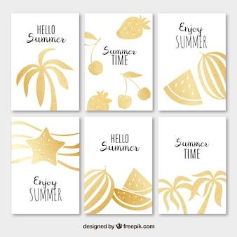 Sommer goldene Karten