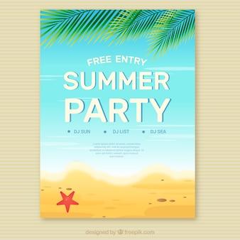 Sommer-Party Einladung am Strand