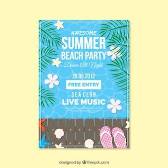 Sommer-Strand-Partyplakat