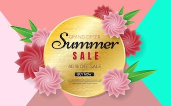 Sommer Verkauf Vorlage Banner Vektor Hintergrund
