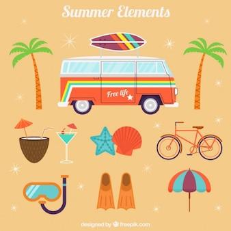 Sommerurlaub Ausrüstung