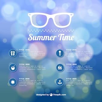 Sommerzeit abstrakte Bokeh-Vorlage