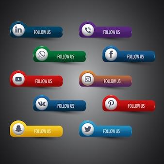 Soziale Netzwerk-Ikonen-Sammlung