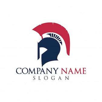 Spartanisches Logo Alte Vintage Antiken Spartanischen Krieger Vektor-Design