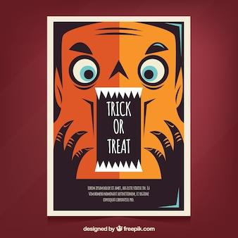 Spaß Halloween-Plakat mit Vampir