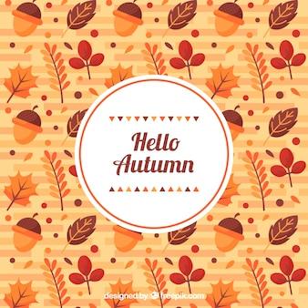 Spaß Hintergrund mit Muster der Herbst Elemente