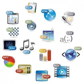Speichern von Dateien Formate Sammlung