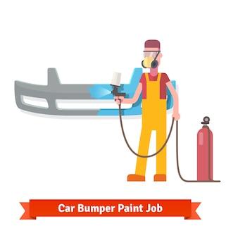 Spezialist Spray Malerei Auto Stoßstange