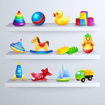 Spielzeug Icons Regal