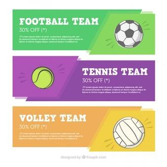 Sport-Banner Sammlung