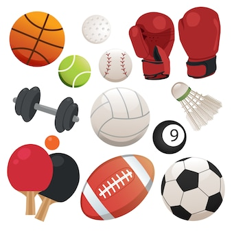 Sport-Elemente-Sammlung