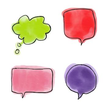 Sprechblasen Kommunikation Aquarell Vektor