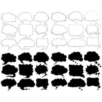 Sprechblasen Sammlung