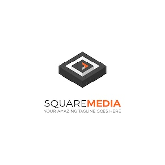 Square Media Logo Tempalte