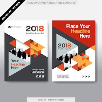 Stadt Hintergrund Business Buch Cover Design Vorlage