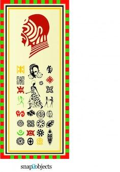Stammes afrikanischen Symbole Vektorgrafiken