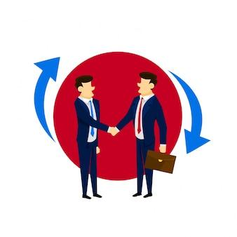 Starke Kundenbeziehung Business Concept Illustration