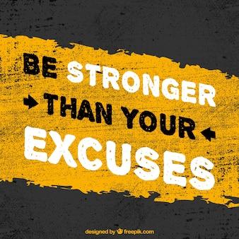 Stärker sein als Ihre Ausreden