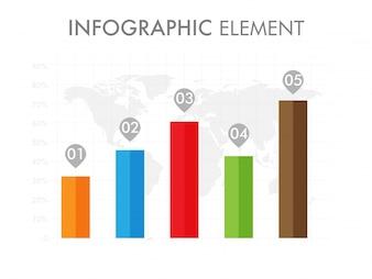 Statistisches infografisches Element für Unternehmen.