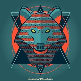 Stilisierte Wolf