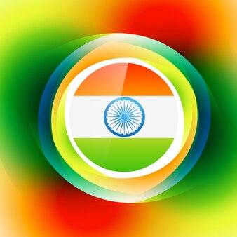 Stilvolle bunte indische Flagge Hintergrund Design