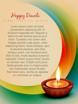 Stilvolle bunte vektorentwurf diwali Festivalkunst