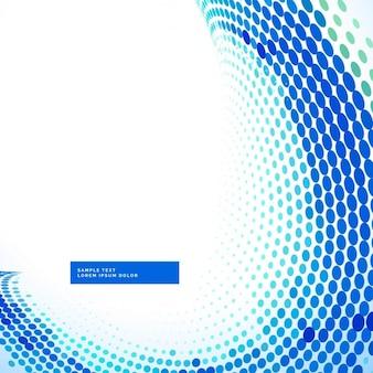 Stilvolle Hintergrund blau Halbton-Welle