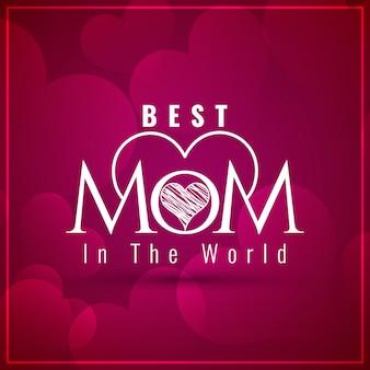 Stilvolle Mütter Tag Hintergrund Design