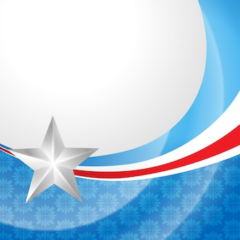 Stilvoller amerikanischer unabhängigkeitstagentwurf