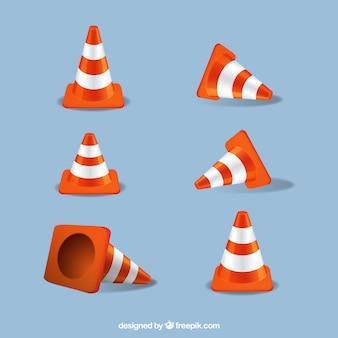 Straßen orange Kegel-Set